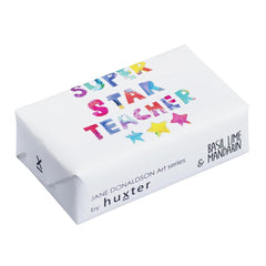 Super Star Teacher' Wrapped Soap - Basil Lime & Mandarin