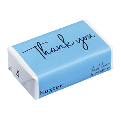 Thank you - Pastel Blue Wrapped Soap - Basil Lime & Mandarin