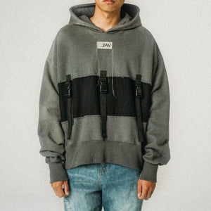 STRAP PULL UP HOODIE