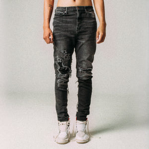 CANVAS PATCHED DENIM