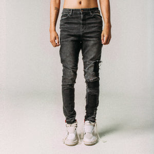 QUARTER PATCHED DENIM