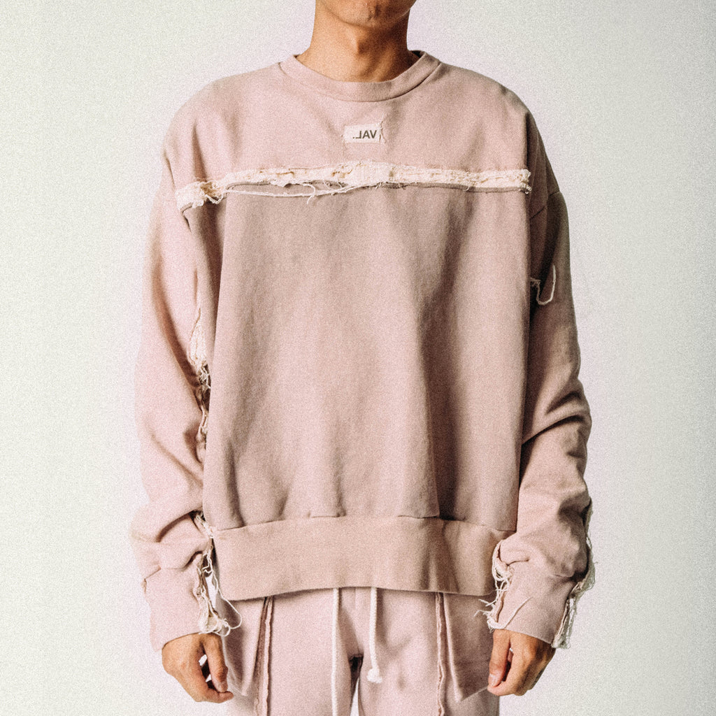 RAW STRIP CREWNECK FAWN