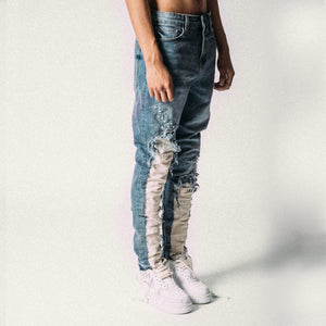 EXPOSED BULL DENIM BLUE/BEIGE