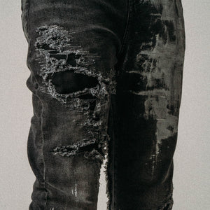 SILVER DIPPED DENIM