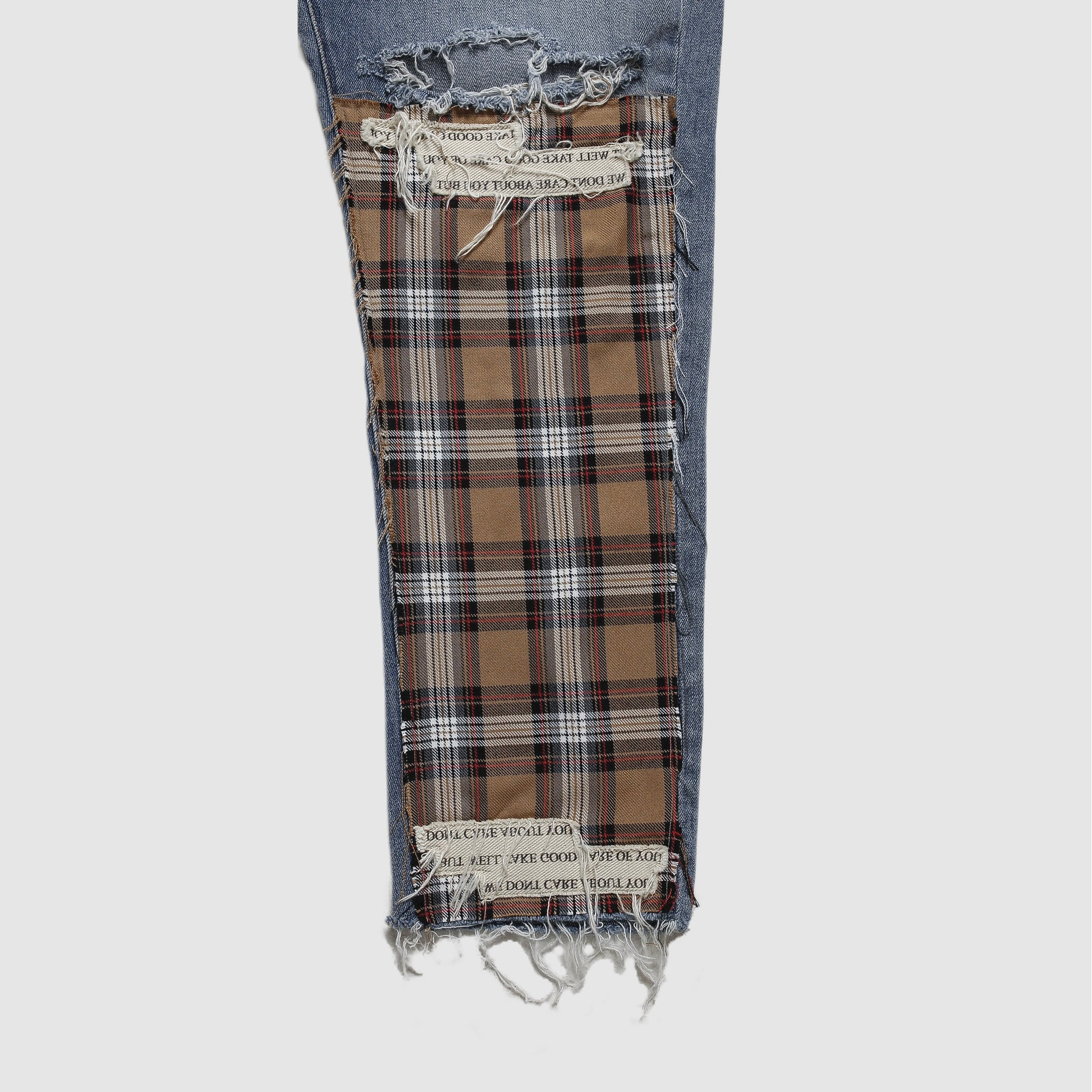 Single Plaid Denim