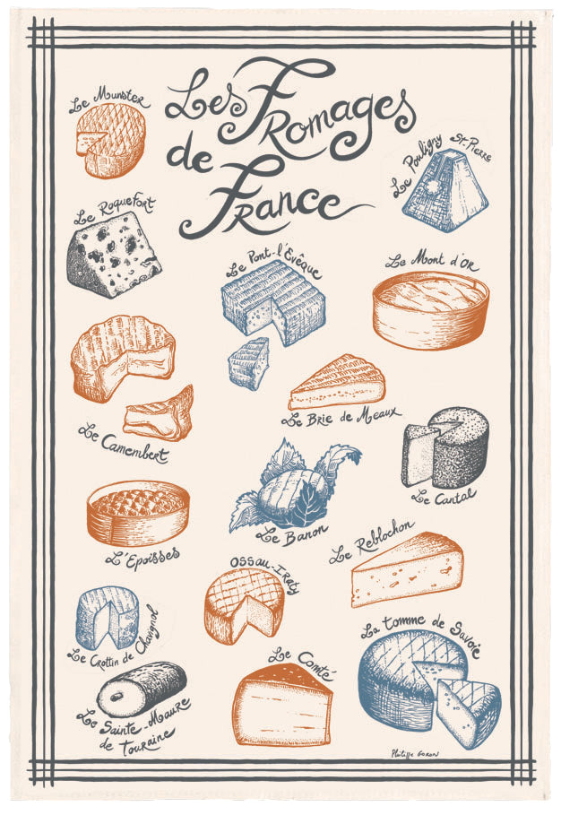 Kitchen Towel Fromages De France
