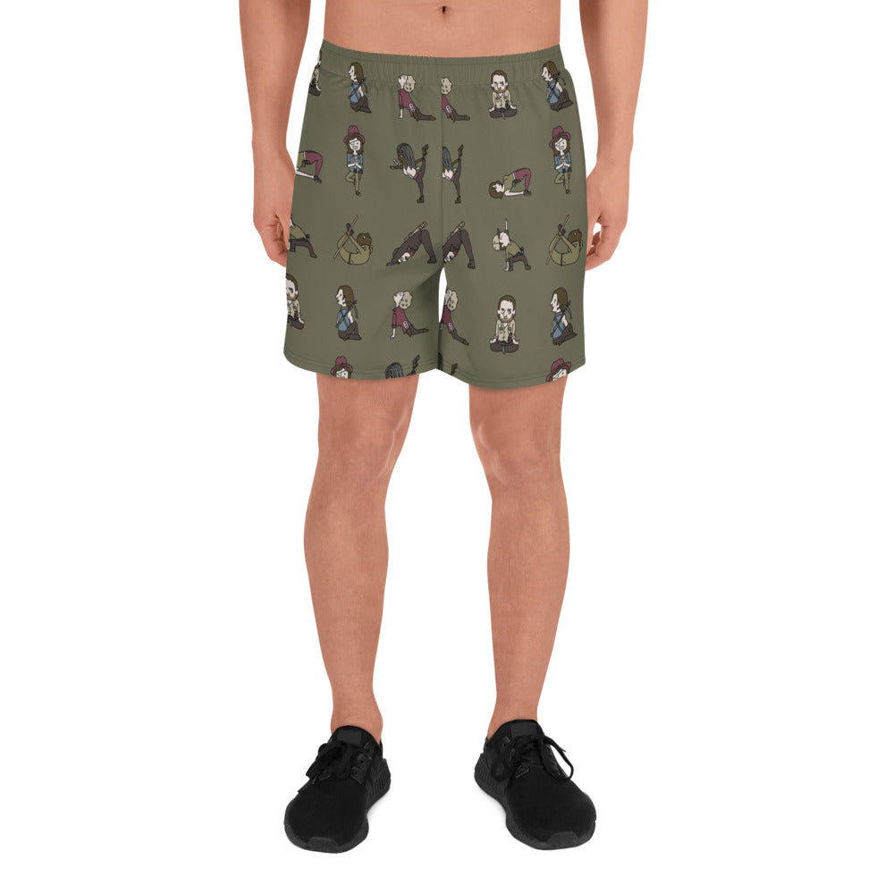 TWD Yoga Men's Athletic Long Shorts