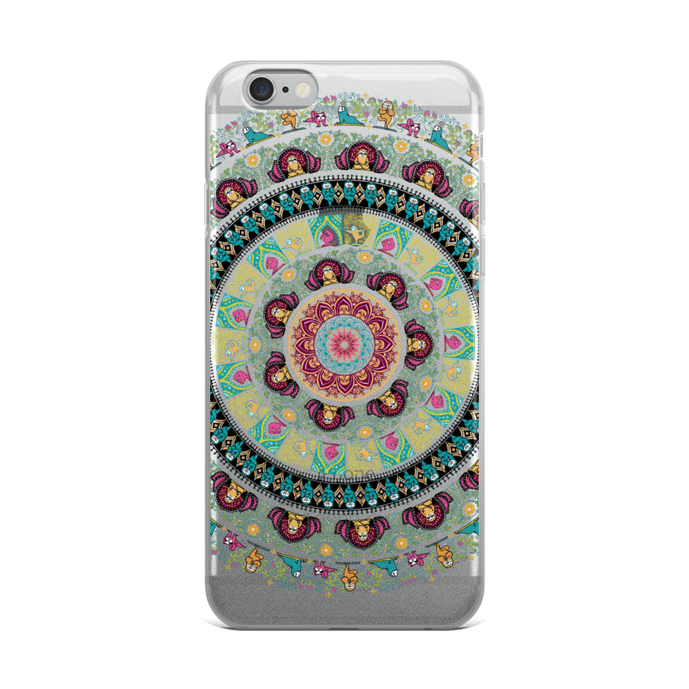 Sloth Yoga Medallion iPhone Case