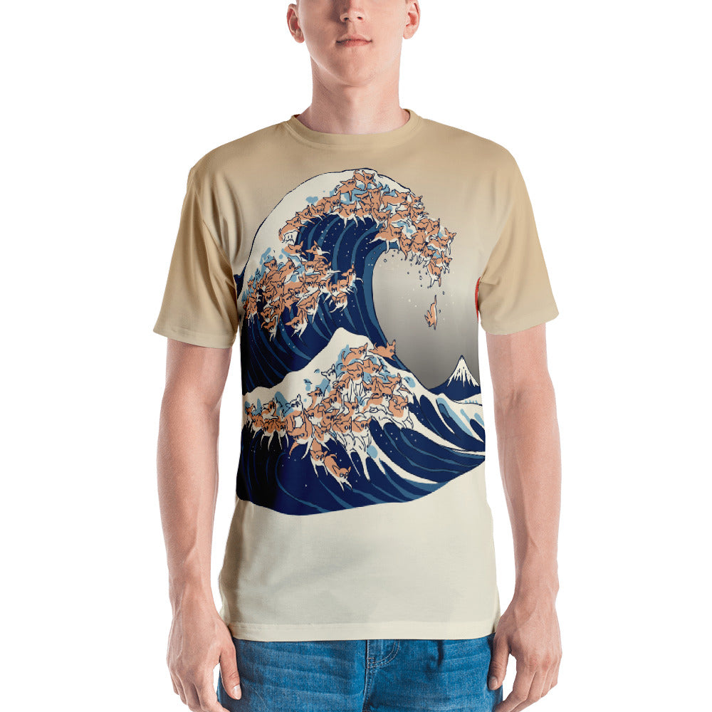 the great wave of Chihuahua All-Over Cut & Sew Men's T-shirt
