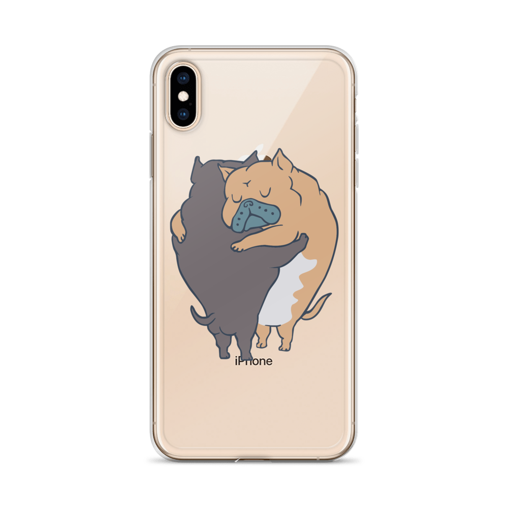 American Bully Hugs  iPhone Case