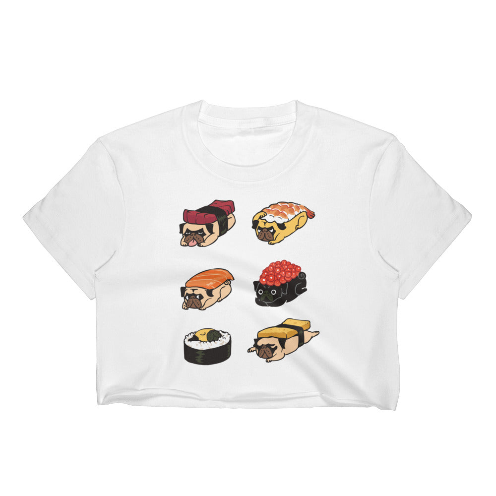 Sushi Pug Women's Crop Top