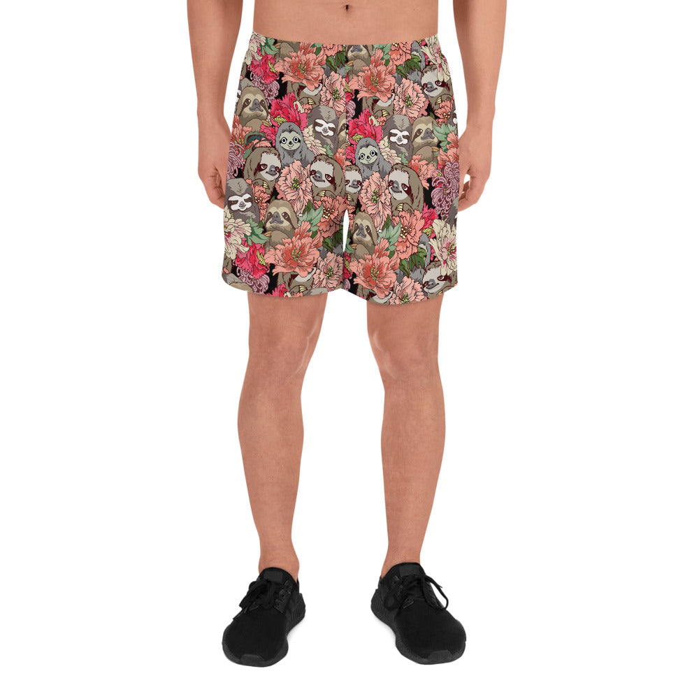 Because Sloths Men's Athletic Long Shorts