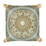 Pug Yoga Medallion Square Pillow