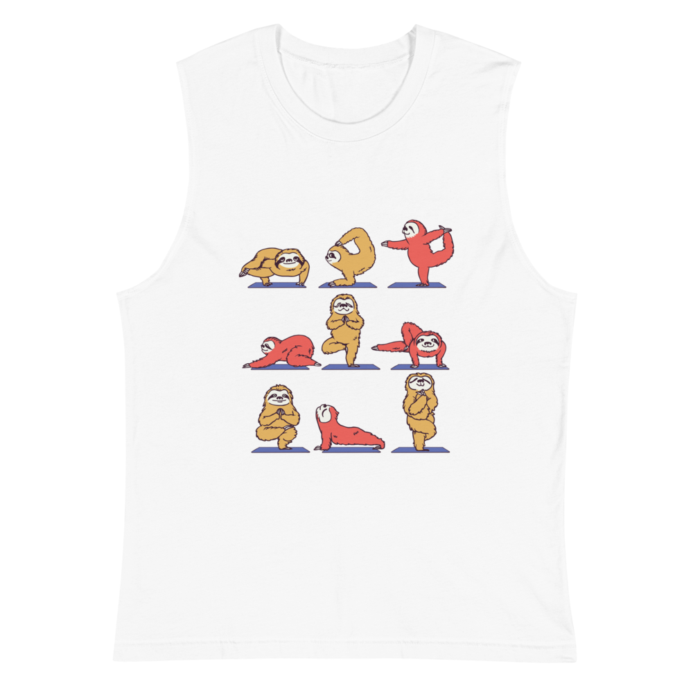 Sloth Yoga Muscle Shirt
