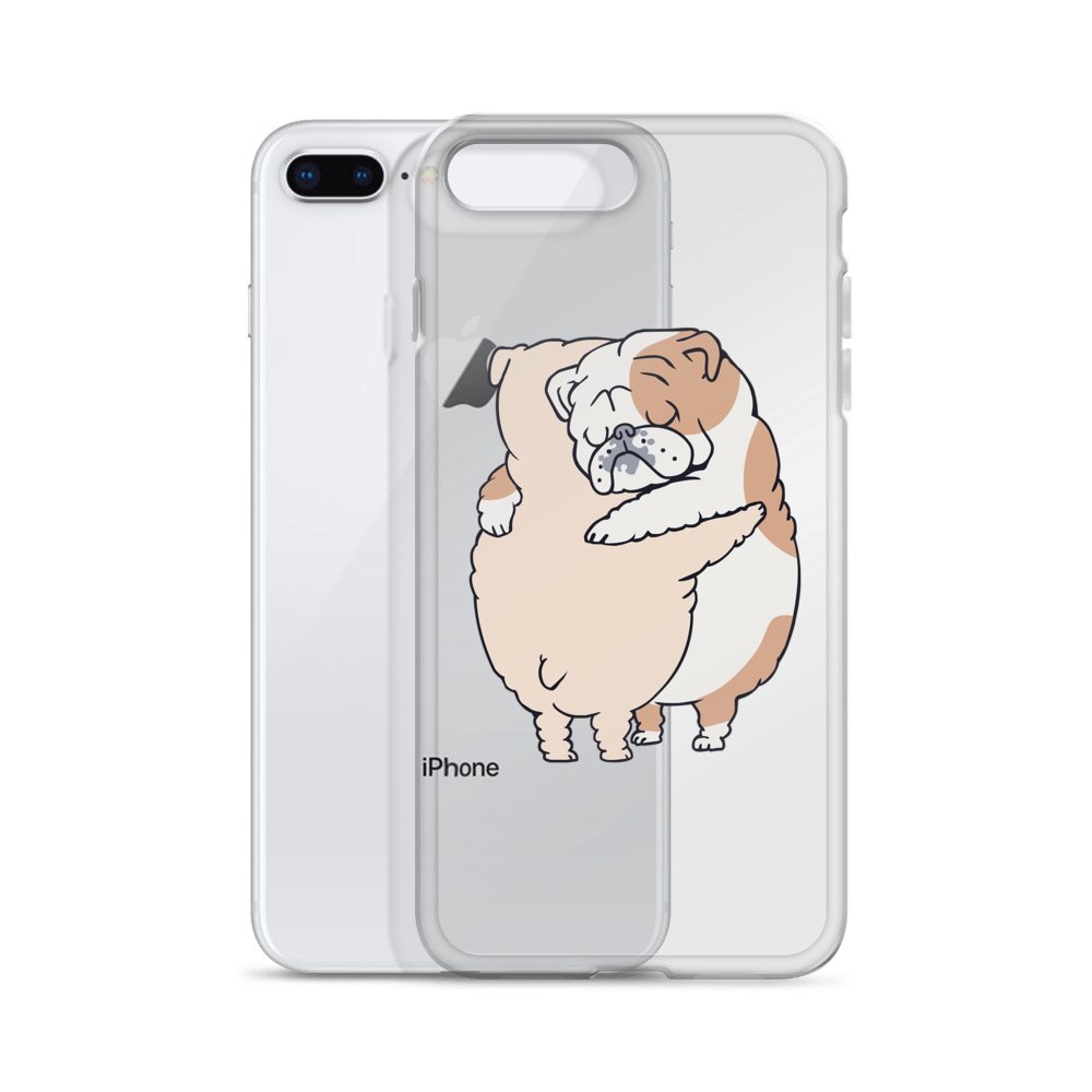 English Bulldog Hugs iPhone Case