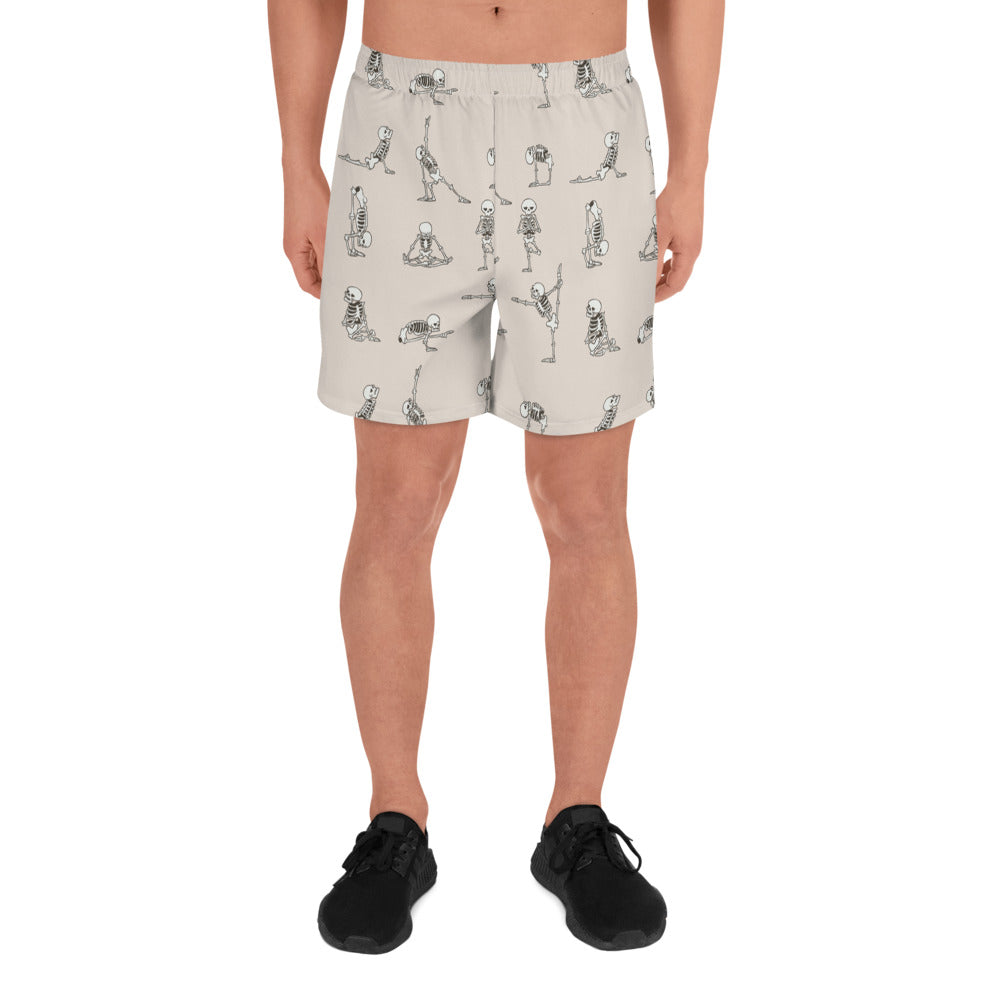 Skeleton Yoga Men's Athletic Long Shorts