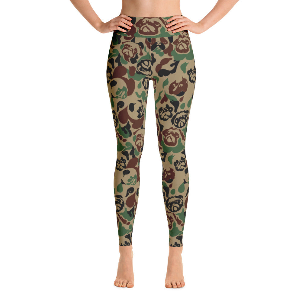 Pug Camouflage Yoga Leggings