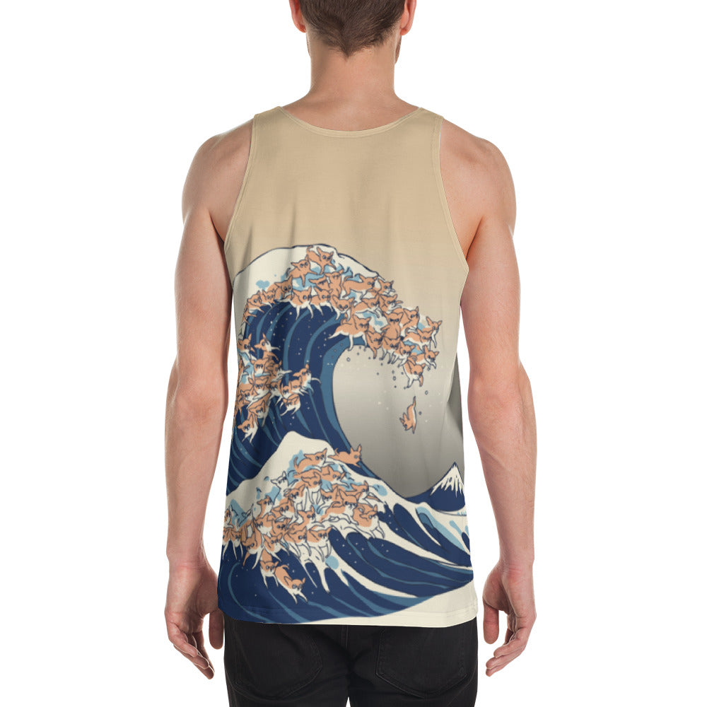 The Great Wave of Chihuahua Unisex Tank Top