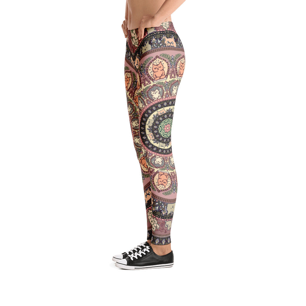 Cat Yoga Medallion Leggings