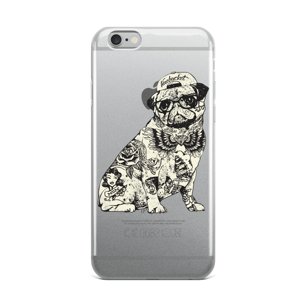 Pug Tattoo iPhone Case