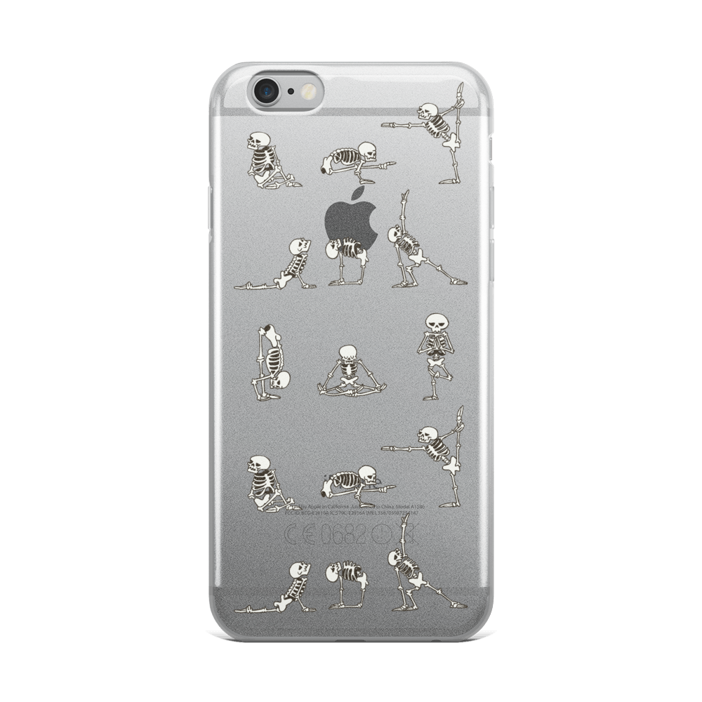 Skeleton Yoga iPhone Case