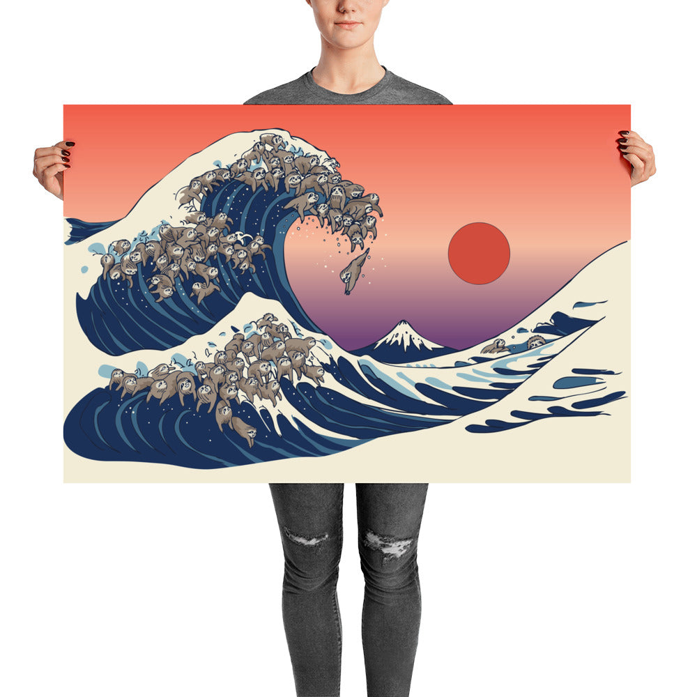 The Great Wave of Sloth Poster