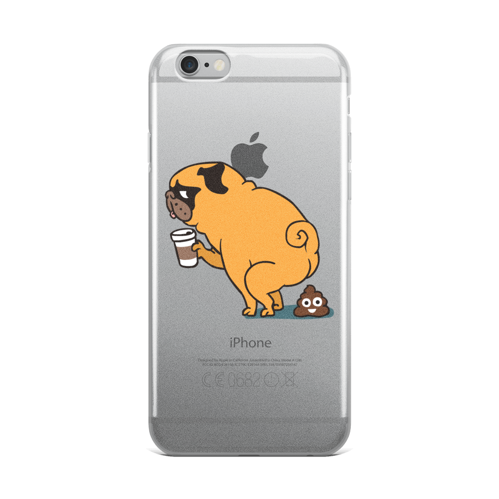 Coffee makes me poop iPhone Case