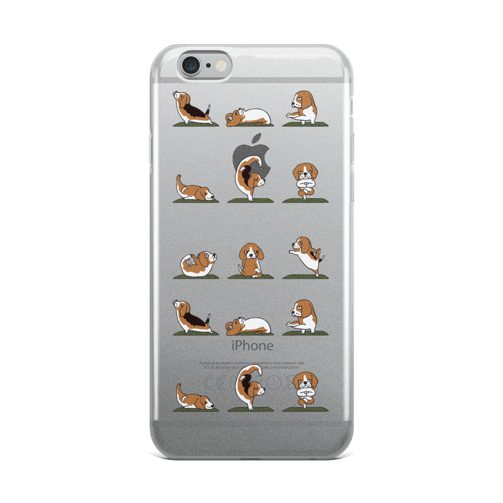 Beagle Yoga iPhone Case