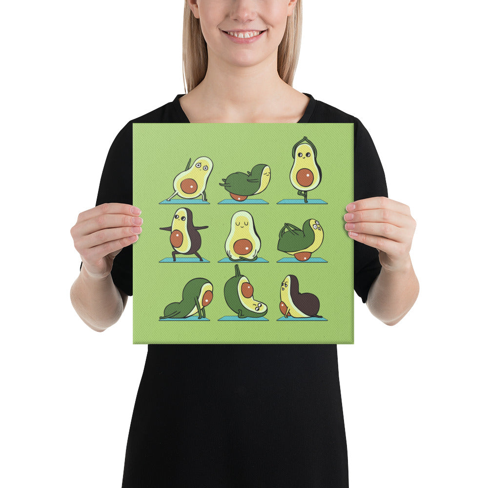 Avocado Yoga Canvas