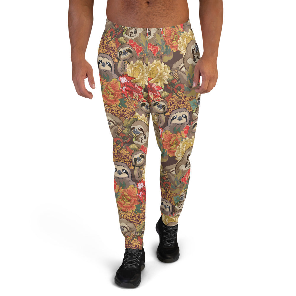 Because Sloths Autumn Men's Joggers
