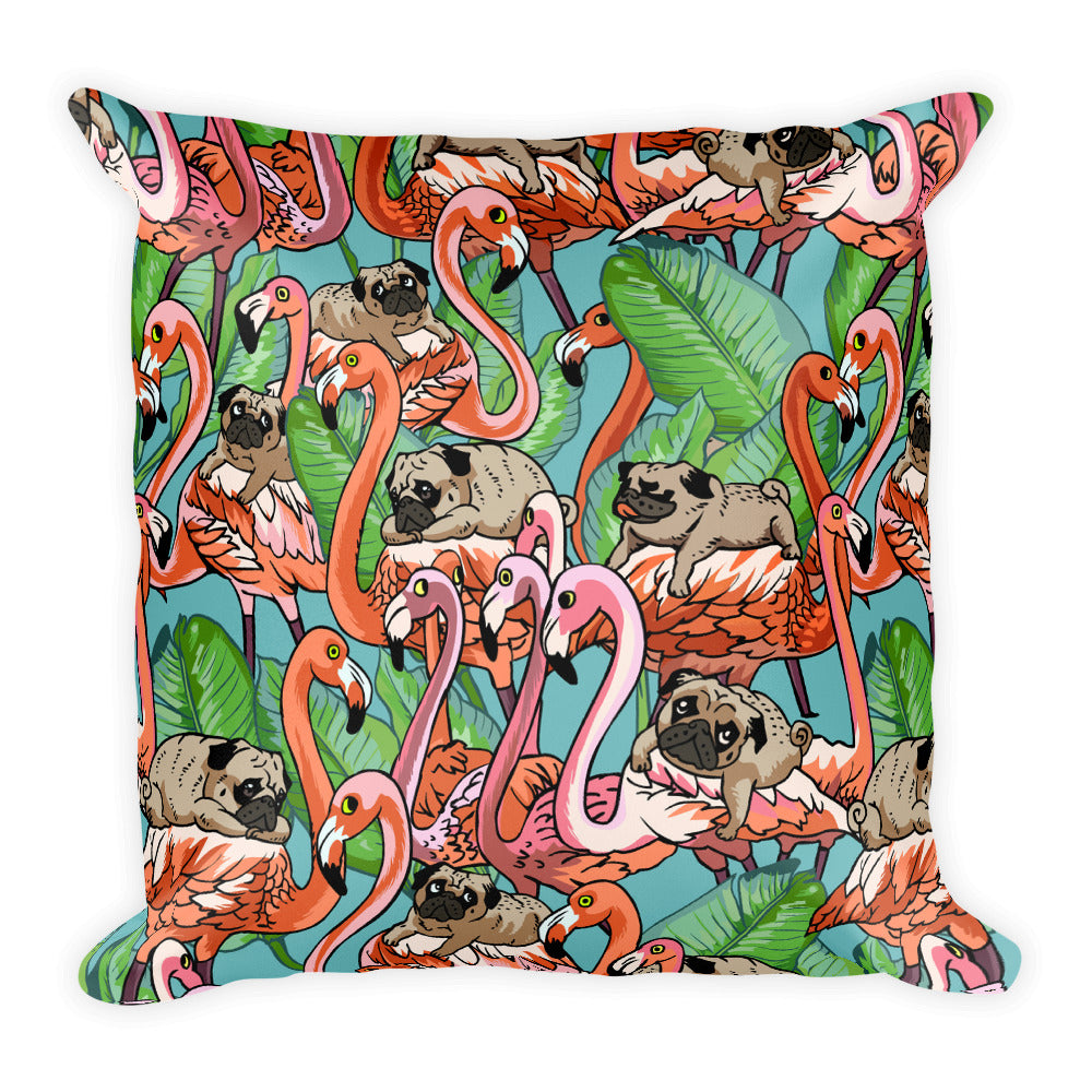 Flamingo Party Square Pillow