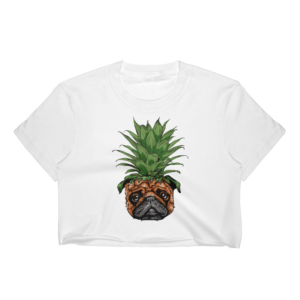 Pineapple Pug Women's Crop Top