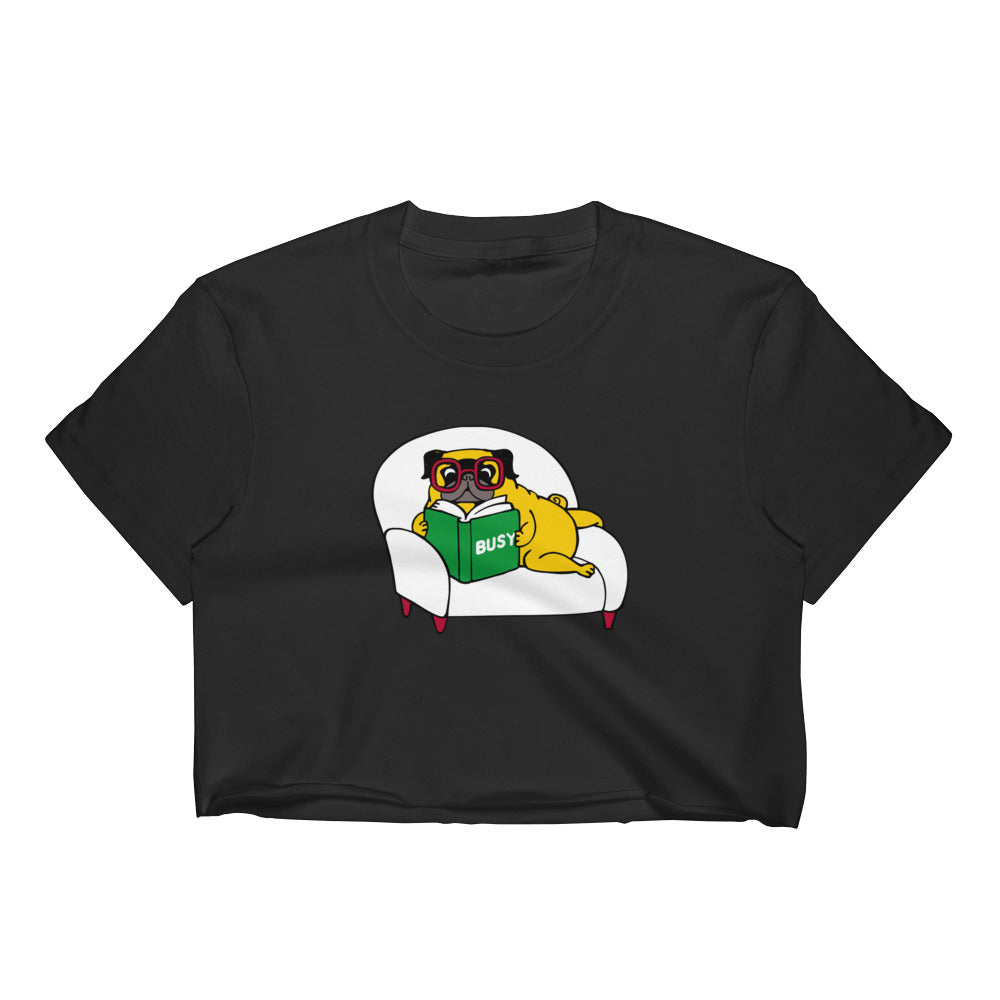 Busy Pug Women's Crop Top