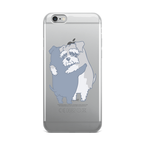 Schnauzer Hugs  iPhone Case