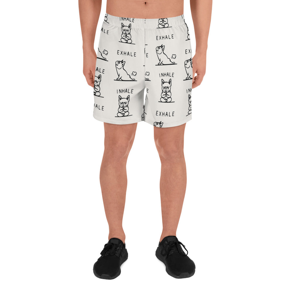 Inhale Exhale Frenchie Men's Athletic Long Shorts