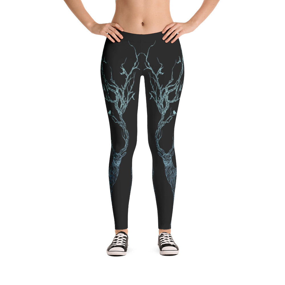 Blue Deer Leggings