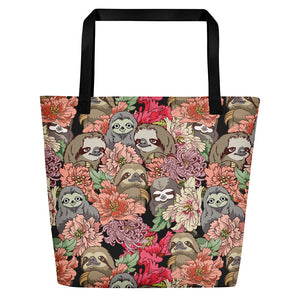 Because Sloths Beach Bag