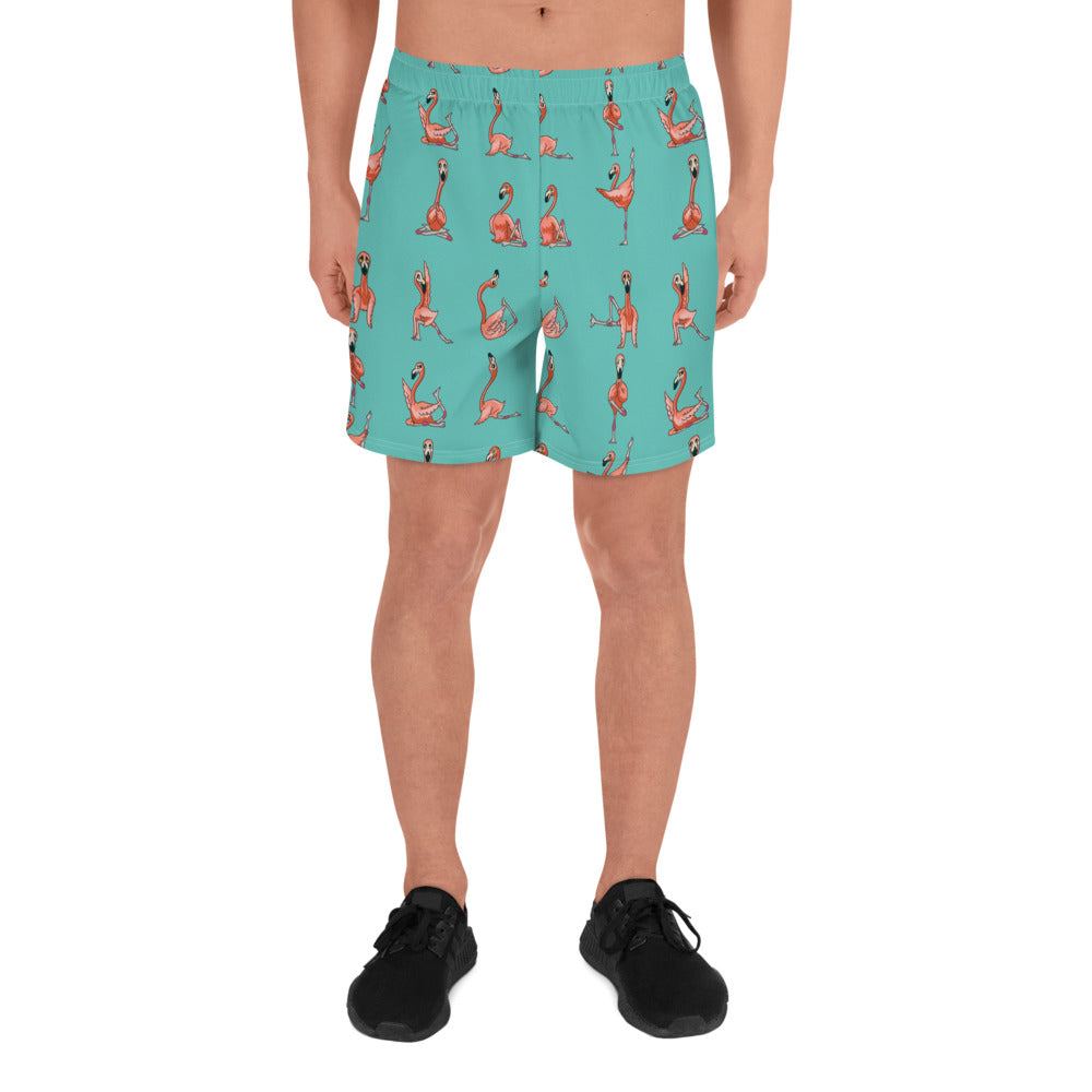 Flamingo Yoga Men's Athletic Long Shorts