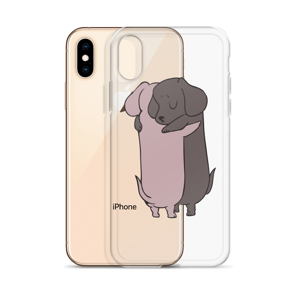 Dachshund Hugs iPhone Case
