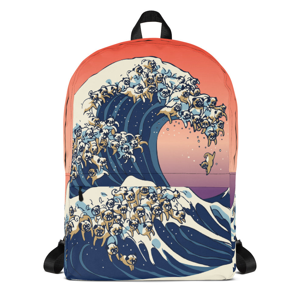 The Great Wave of Pugs Backpack