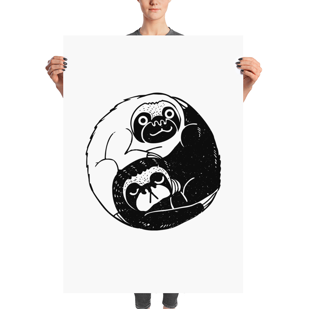 The Tao of Sloths Poster