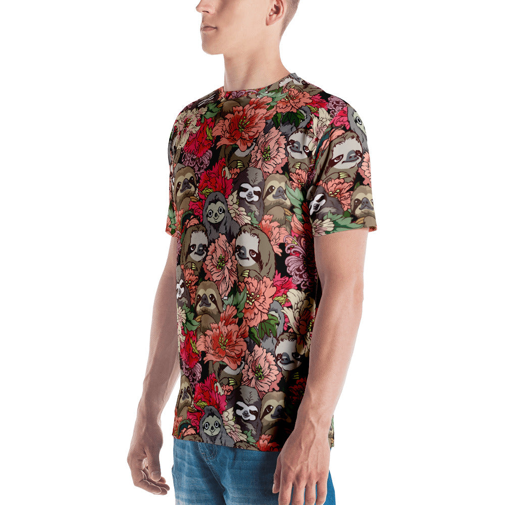 Because Sloths All-Over Cut & Sew Men's T-shirt