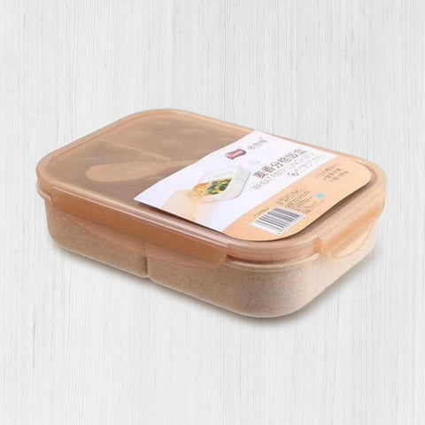 Wheat fiber separated lunch box