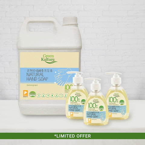 5L Natural Hand Soap bundle (with 3 additional 250ml bottles)