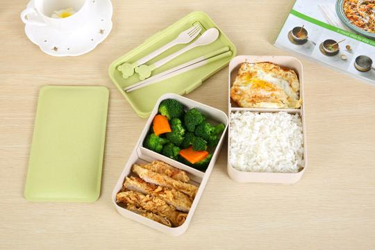 Wheat Fiber Double Lunch Box