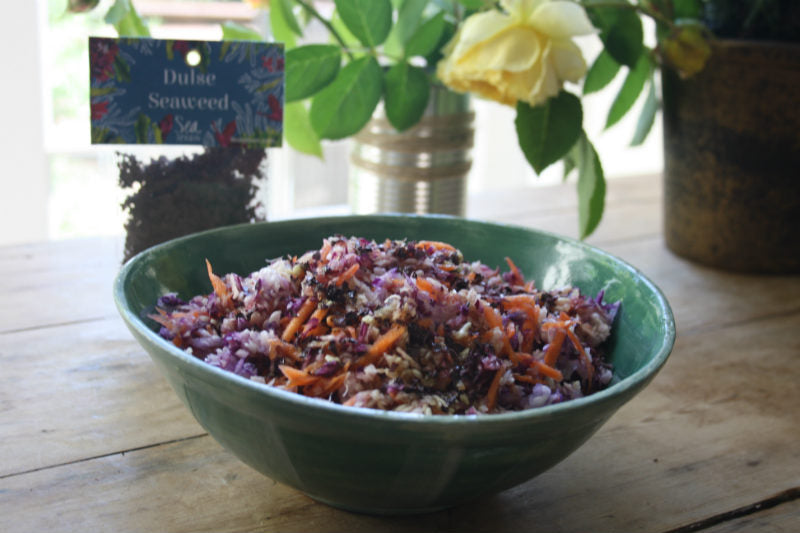 Asian Slaw with Dulse Seaweed Flakes