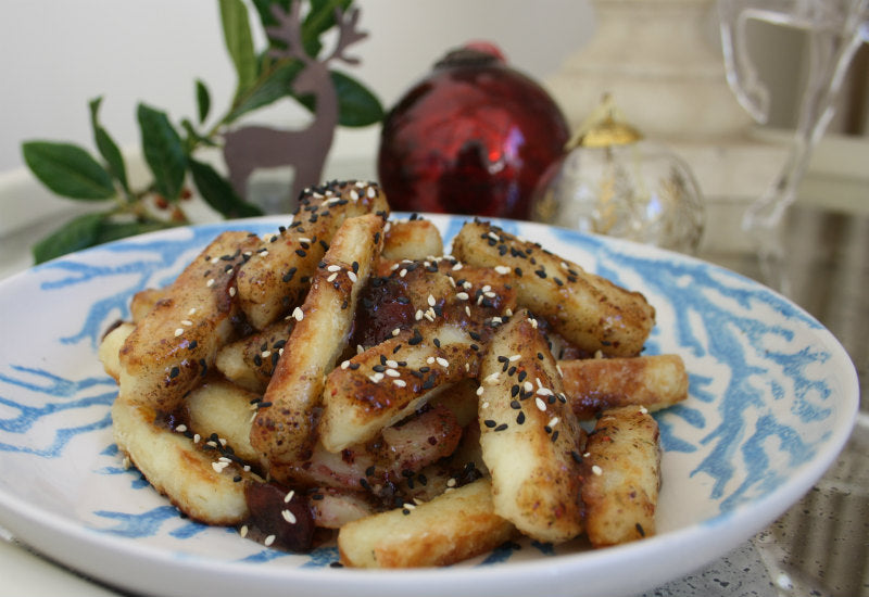 Halloumi, Cranberry and Seaweed Fries