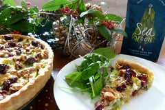 A Festive Tart - Leek, Cranberry and Seaweed