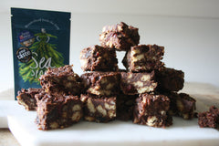 Chocolate, Chestnut, Cranberry and Seaweed Fridge Cake