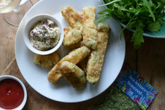 Fish and Sea Lettuce Goujons with Seaweed Mayo